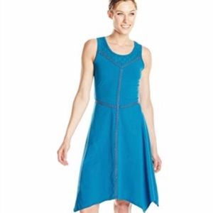 Prana Blue Embroidered Lace Trixie Dress